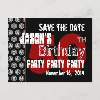 Modern Save the Date  50th Birthday Party R203 Announcement