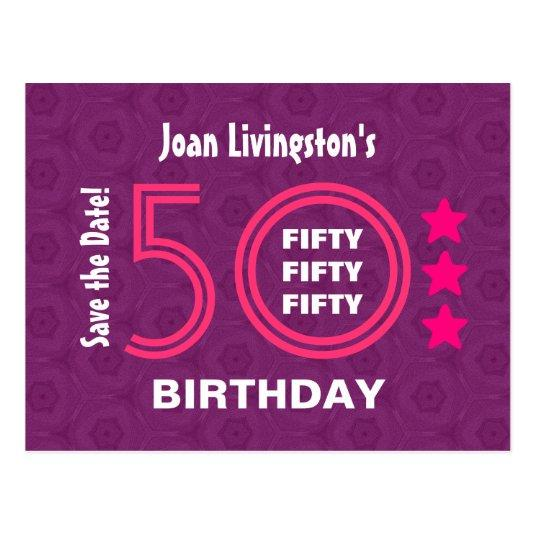 modern save the date 50th birthday party v50db cards save the date