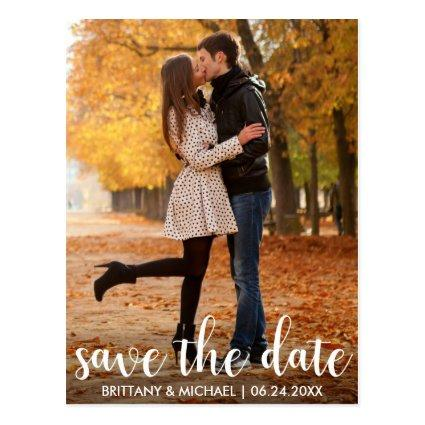 Modern Save The Date Engagement Couple Photo WL