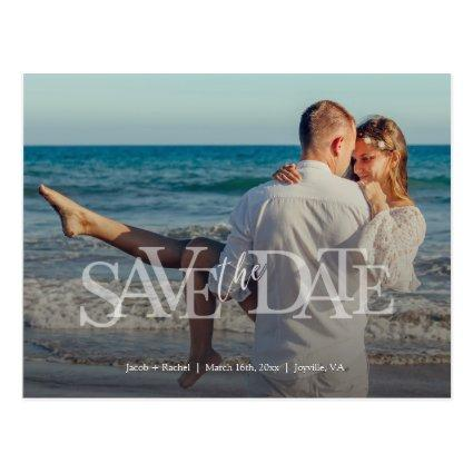 Modern Save the Date Full-photo Overlay Wedding