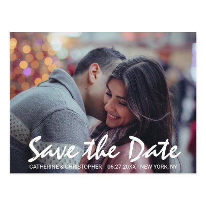 Modern Save the Date Hand Lettered Photo