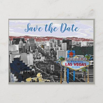 Modern Save the Date Las Vegas Wedding Announcement
