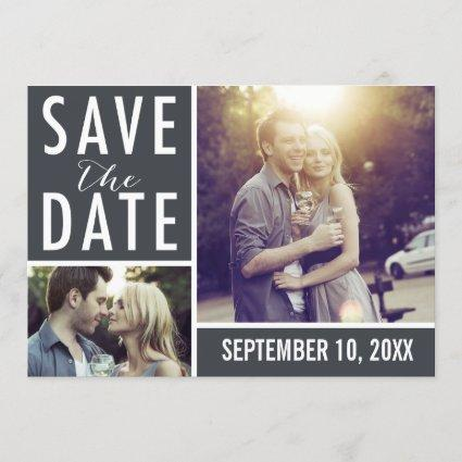 Modern Save The Date Photo Collage