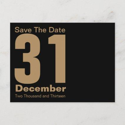 Modern Save The Date Cards Gold