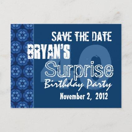 Modern Save the Date Surprise 40th Party V401 Announcement