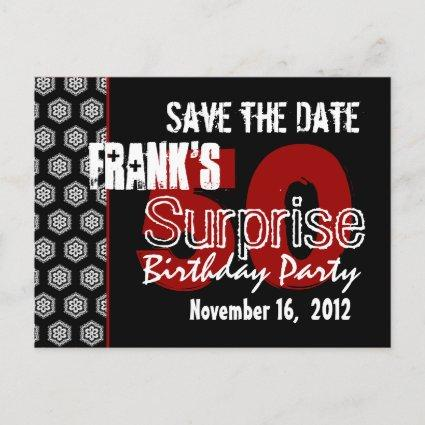 Modern Save the Date Surprise 50th Party V337 Announcement