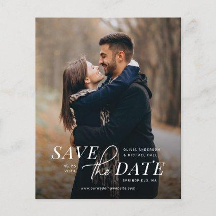 Modern Save the Date with Photo Budget Wedding