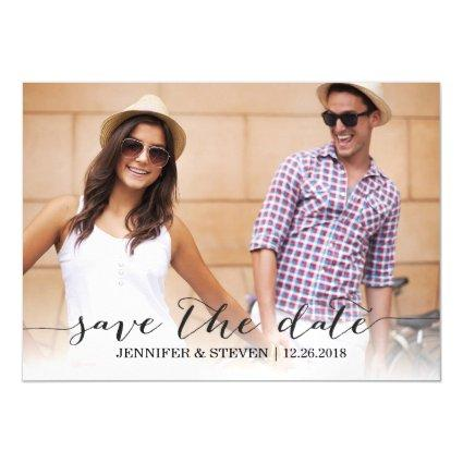 Modern Script Save the Date Magnets Invitations