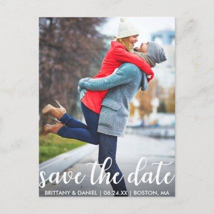 Modern Script | Save The Date Photo Announcements Cards