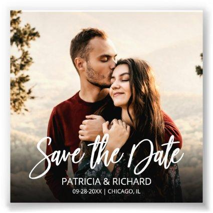 Modern Script Wedding Budget Save The Date Photo