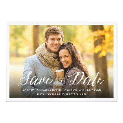 Modern Simple Script Save The Date Magnetsic