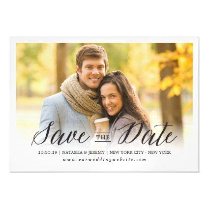 Modern Simple Script Save The Date Magnetsic Invitation