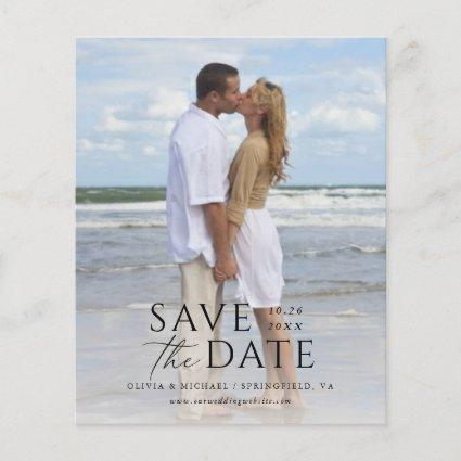 Modern Simple Text Overlay Budget Save the Date