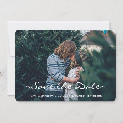 Modern Spring Paisley Floral Photo SAVE THE DATE