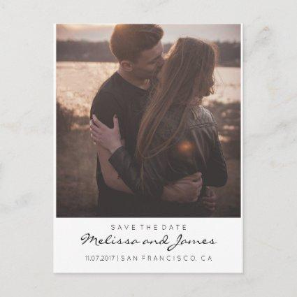 Modern Stylish Save The Date Photo Announcements Cards
