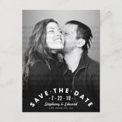 Modern Stylish Save the Date Photo Cards