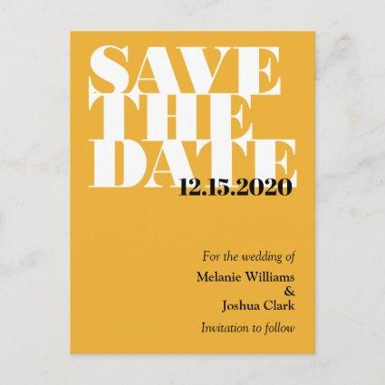 Modern Typographic Wedding Save The Date Announcement