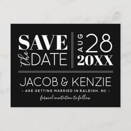 Modern Typography | Editable Colors Save the Date Announcement