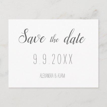Modern typography save the date Cards