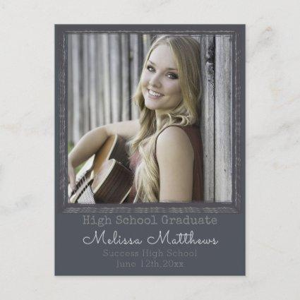 Modern Urban Photo Frame Graduation Cards