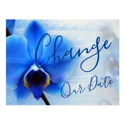 Modern Watercolor Blue Orchid Floral