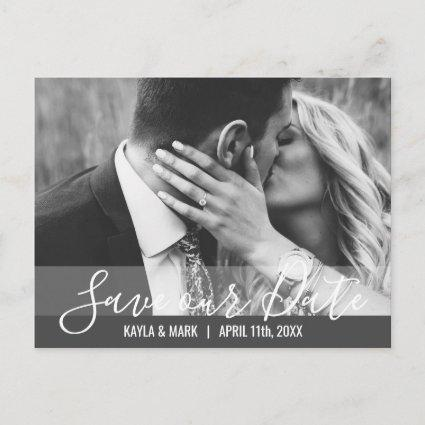 Modern Wedding Engagement SAVE OUR DATE | PHOTO Announcement
