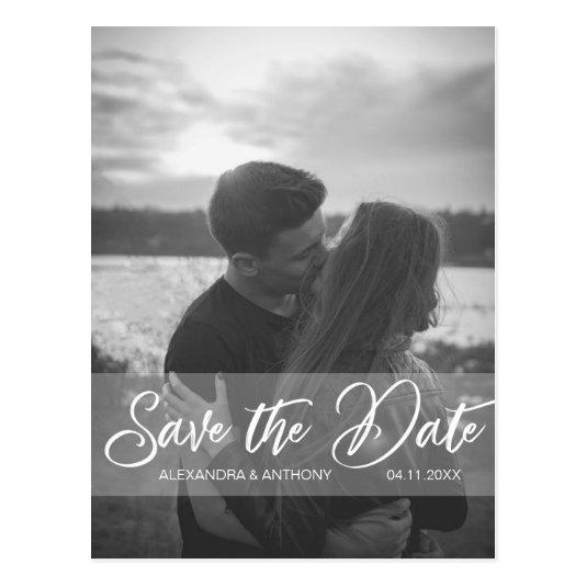 Modern Wedding Engagement SAVE THE DATE | PHOTO