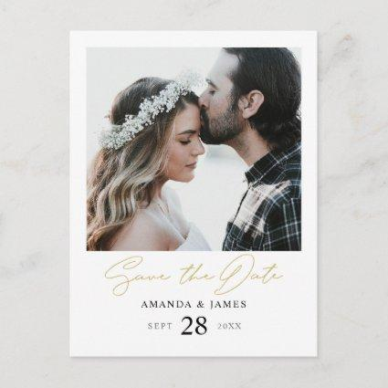 Modern Wedding Save the Date Invite with Photo