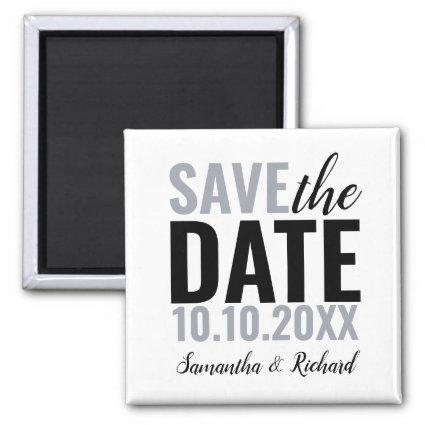 Modern Wedding Save The Date Magnet