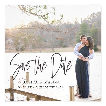 Modern Wedding Save The Date Magnets with Photo