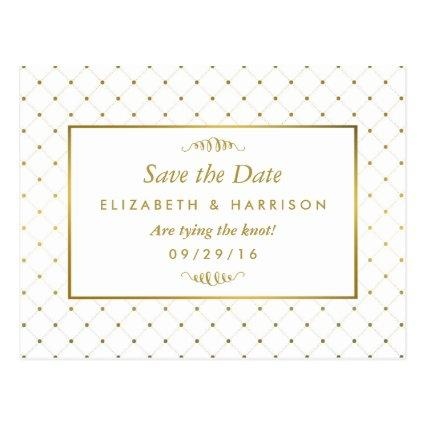 Modern White & Gold Foil Effect