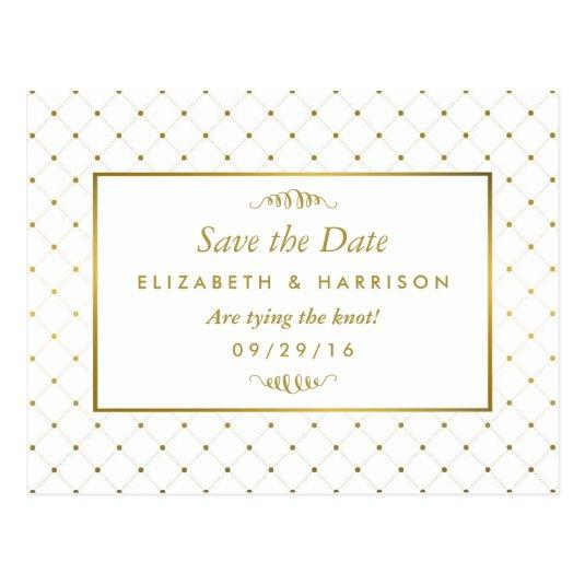 Modern White & Gold Foil Effect Save The Date Cards