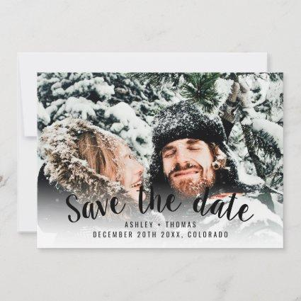 Modern winter Save the date add your photo