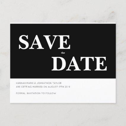 Monochromatic - Save the Date Announcements Cards