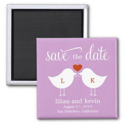 Monogram Birds Save The Date Magnets