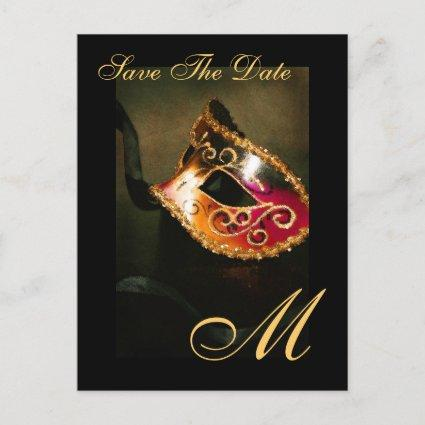 Monogram Masqurade Mask Save The Date