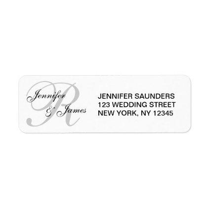 Monogrammed Wedding Custom Address Label