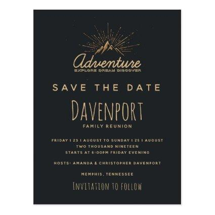 Mountain Adventure Family Reunion Save the Date Cards