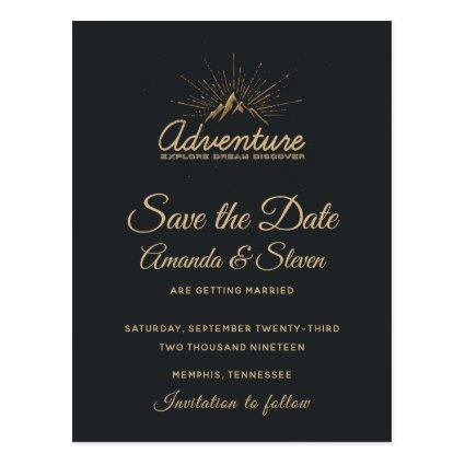 Mountain Adventure Rustic Wedding Save the Date Cards