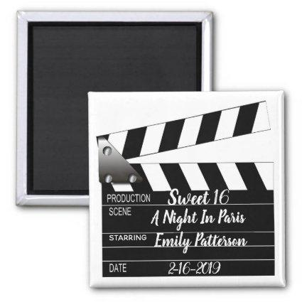 Movie Clapper Special Occasion Magnet