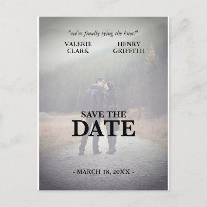 Movie Film Save The Date Photo Announcements Cards