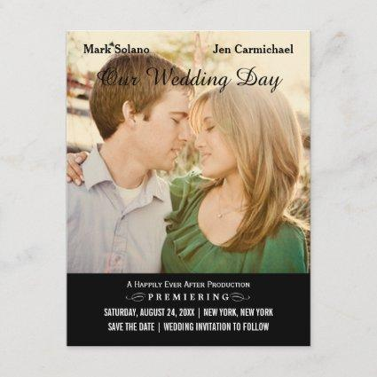 Movie Poster Design | Wedding Photo Save the Date