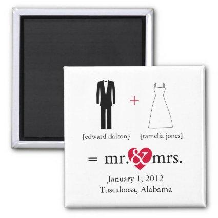 Mr & Mrs Do the Math Save the Date Magnet
