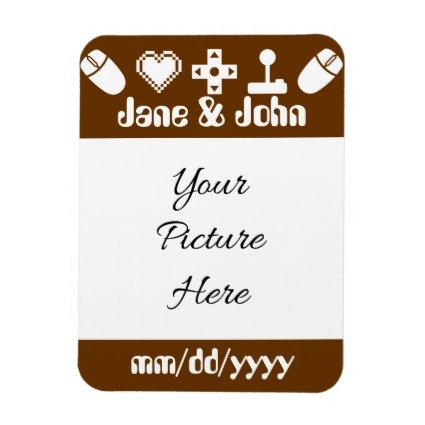 Multiplayer Mode in Chocolate Save-the-Date Magnet