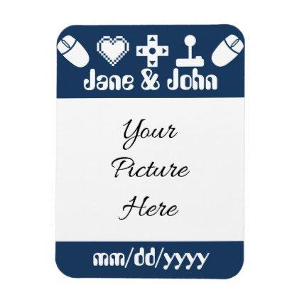 Multiplayer Mode in Navy Save-the-Date Magnet