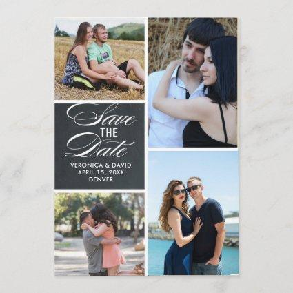 Multiple images portrait wedding save the date