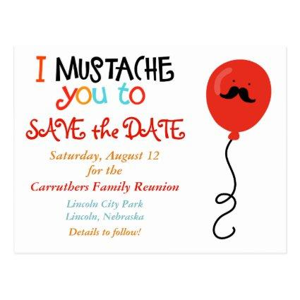 Mustache Balloon Family Reunion