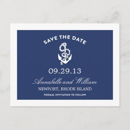 NAUTICAL ANCHOR | SAVE THE DATE POST CARD