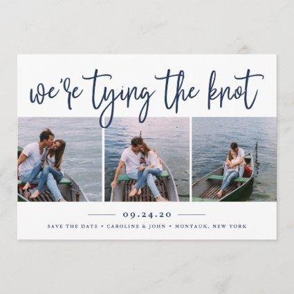 Nautical Knot | Photo Collage Save the Date Card