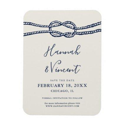 Nautical Navy Knot Save the Date Magnet